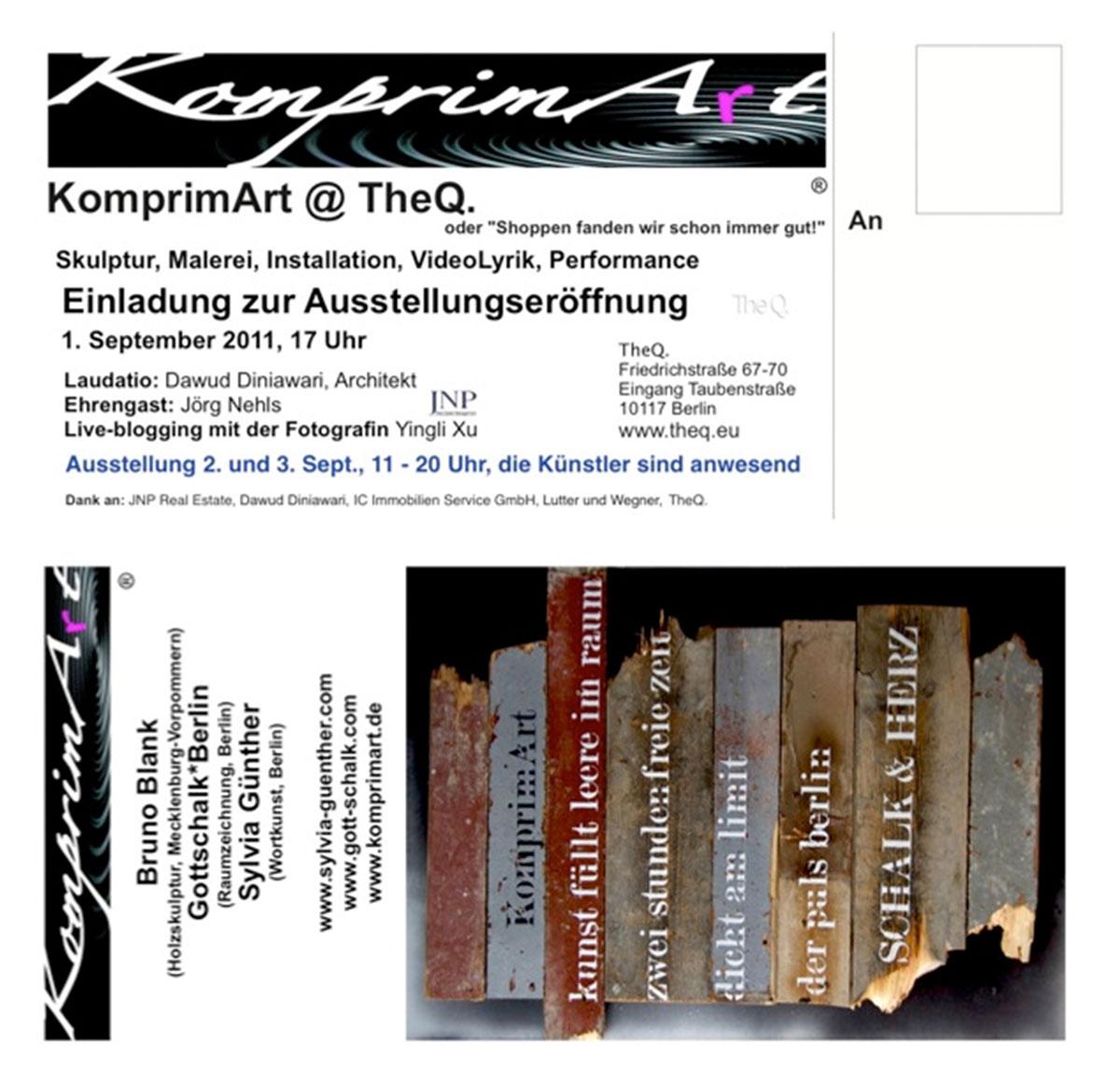 Einladung KomprimArt
