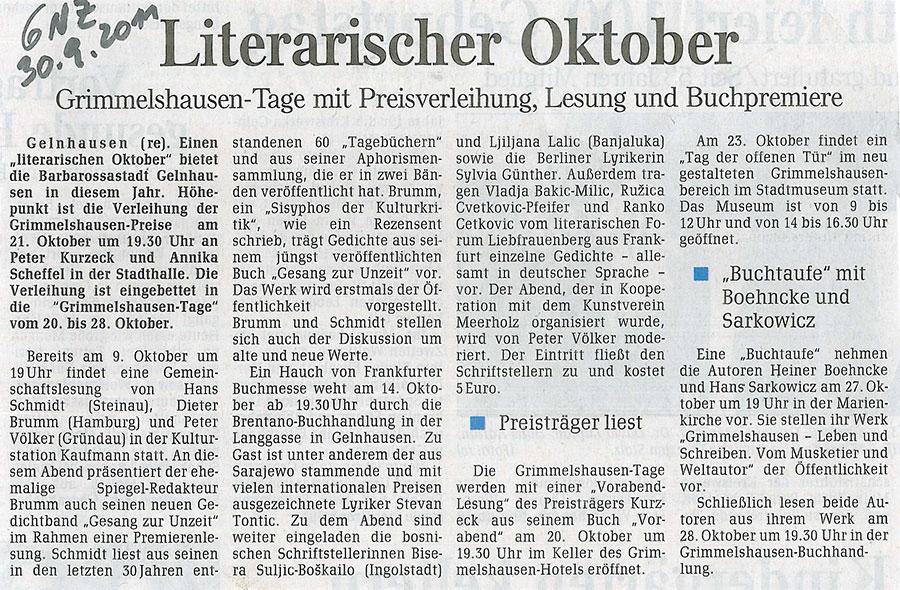 Buchmesse-Lesung mit Stevan Tontic und anderen ex-jugosphärischen Dichtern, 30. September 2011 | Sylvia Günther